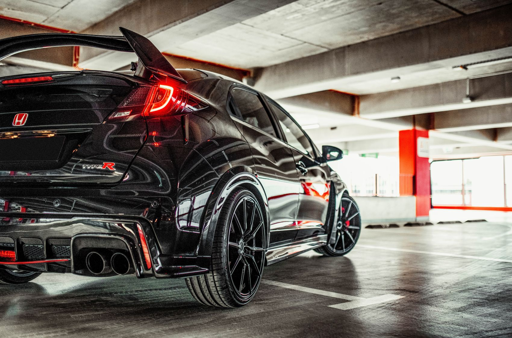 Honda Civic Type R Concaver CVR4 Double Tinted Black